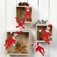Elfi decorativi personalizzati con foto dei membri della famiglia