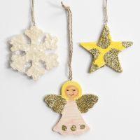Decori di Natale pendenti con glitter