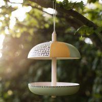Mangiatoia per uccellini in fibra di bambù decorata con vernice Plus Color