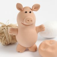 Un maialino in Silk Clay