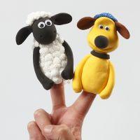 Marionette da dita di Shaun Vita da Pecora in Silk Clay e Foam Clay