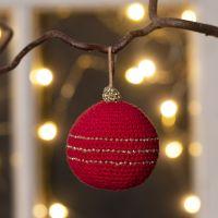 Pallina di Natale all'uncinetto con filo di cotone