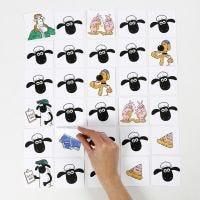 Shawn the Sheep gioco di memoria decorato con pennarelli