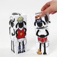 Shaun the Sheep blocchi impilabili decorati con pennarelli