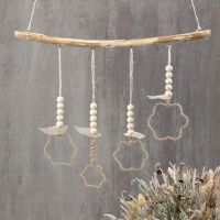 Jute wire hanging decorations formed around shape cutters