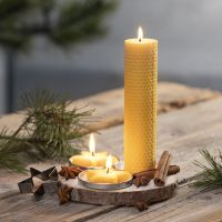 Homemade candles from natural beeswax
