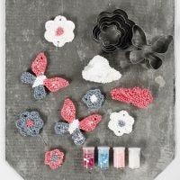 Decorazioni da appendere realizzate in Foam Clay Large con frese sagomate