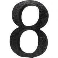 Numero da tavolo dipinto con glitter
