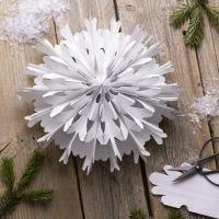 Una stella fiocco di neve dai sacchetti di carta