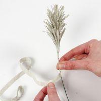 Come realizzare punte di erba di pampa o abete con carta crespa