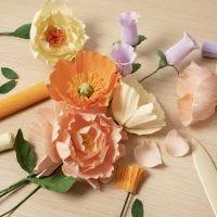 Fiori di carta crespa per principianti: impara a realizzare fiori di carta crespa